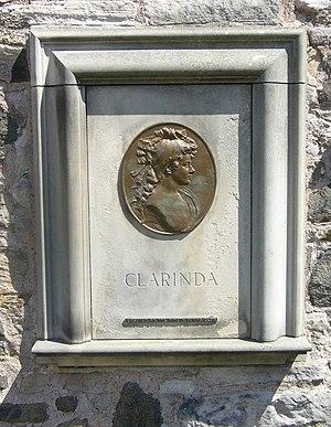 Jenny Clow - Agnes Maclehose's gravestone.
