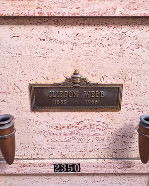 Clifton Webb - Webb's crypt at Hollywood Forever