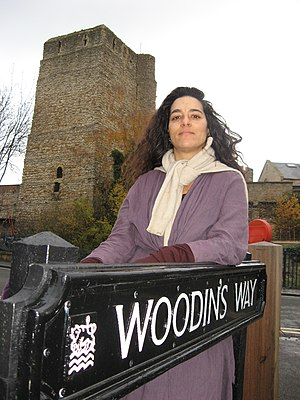 Mike Woodin - Cllr Sushila Dhall in Woodin's Way near Oxford Castle, named after her friend the late councillor Mike Woodin.