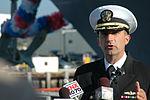 Cmdr. Carl Meuser speaks to media DVIDS248032.jpg