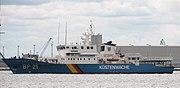Coast Guard ship BP21 Bredstedt of the German Federal Coast Guard.