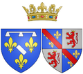 Coat of arms of Marie de Bourbon, Duchess of Estouteville in her own right as Duchess of Longueville.png