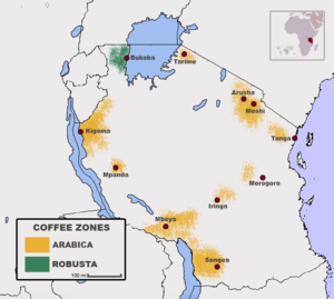 Coffee production in Tanzania - Coffee zones of Tanzania by Bean Type