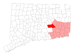Location in New London Coonty, Connecticut