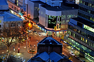 Colombo Street main road in Christchurch, New Zealand