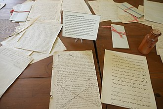 Colton Hall - Image: Colton Hall notes and letters