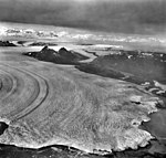 Columbia Glacier, Calving Terminus with Oblique View of Valley Glacier, September 9, 1973 (GLACIERS 1178).jpg