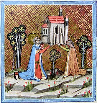 Kingdom of Hungary (1000–1301) - King St Stephen and his wife founding a church at Óbuda