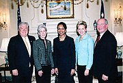 Gov. Granholm with Condoleezza Rice and other Governors.