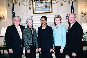 Jennifer Granholm - Left to right: Mississippi Governor Haley Barbour, Kansas Governor Kathleen Sebelius, U.S. Secretary of State Condoleezza Rice, Granholm and Georgia Governor Sonny Perdue.