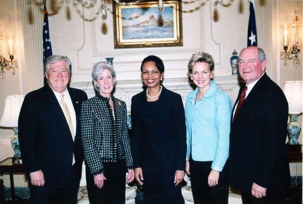 Condoleezza Rice with Governors