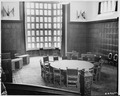 Conference room at Cecilienhof Palace, site of the Potsdam Conference in Potsdam, Germany. The walls are decorated... - NARA - 198802.tif