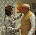 Congresswoman Pelosi greets Prime Minister Modi of India (21268671974).jpg