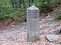 Connecticut-Massachusetts-Rhode Island tripoint marker, October 2018.jpg