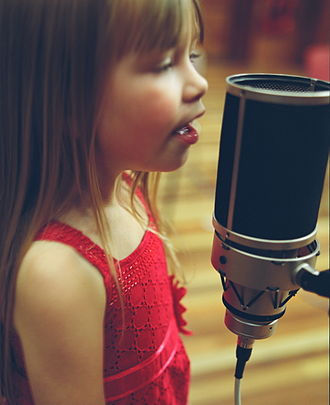 """Connie Talbot - Talbot during the recording of """"Smile"""" for Sony BMG"""