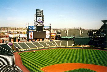 Deutsch: Heimat der Colorado Rockies: Coors Fi...