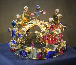 Crown of Saint Wenceslas - Replica of the crown in the Old Royal Palace of Prague Castle