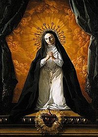 Corrado Giaquinto - St Margaret Mary Alacoque Contemplating the Sacred Heart of Jesus - WGA8959.jpg