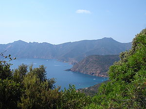 Battle of Girolata - The Gulf of Girolata in 2007.