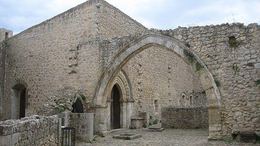 Corte interna del castello di Mussomeli