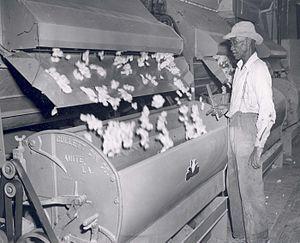 Harrah, Oklahoma - A cotton gin in the 1940s