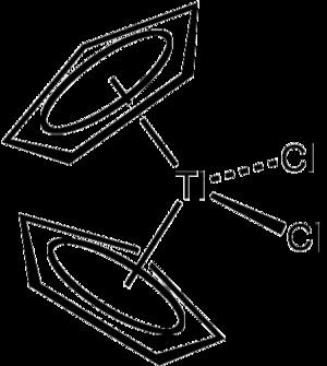 Titanocene dichloride - Image: Cp 2Ti Cl 2