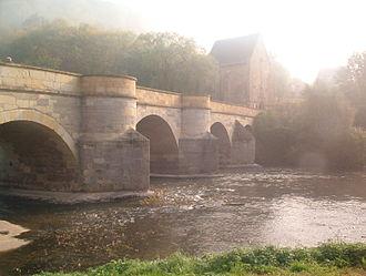 Creuzburg - The stone Werra Bridge, built in 1225, and the Liborius Chapel, built in 1499