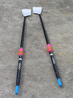 Sculling type of rowing when a rower has two oars