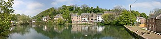 Cromford - Panorama of Cromford's mill pond