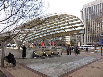 Crystal City, Arlington, Virginia - Crystal city metro station in 2016.