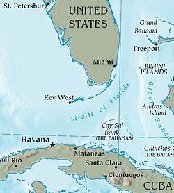 Cuba-Florida map