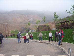 Herrerías - Entrance to the Cave of El Soplau. Herrerías (Cantabria).