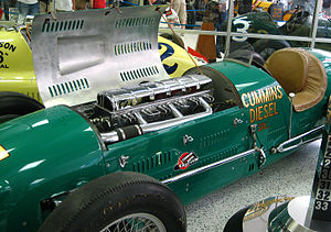 Cummins - An early Cummins diesel in a 1950 Indianapolis 500 roadster