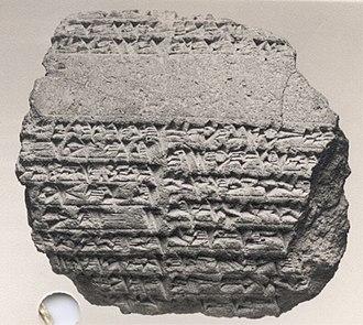 Babylon - Cuneiform cylinder from reign of Nebuchadnezzar II honoring the exorcism and reconstruction of the ziggurat Etemenanki by Nabopolassar.