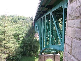 U.S. Route 2 in Michigan - Cut River Bridge as seen from a nearby walkway