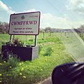 Cwmffrwd Town Sign, Carmarthenshire, South Wales, UK.jpg