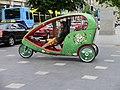 Cycle rickshaw at rest in Dublin.JPG