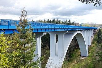 D6 motorway (Czech Republic) - Image: Dálnice D6 most u Sokolova (1)