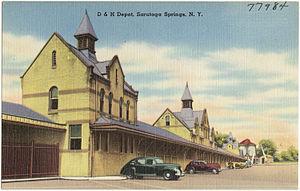 Saratoga Springs station - Image: D & H Depot, Saratoga Springs, NY