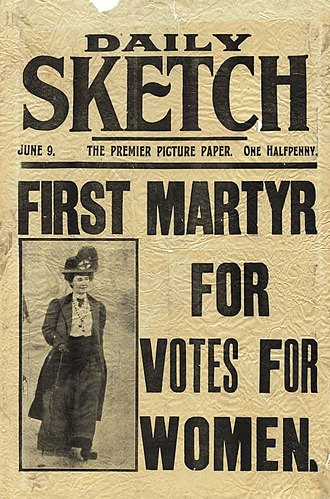 Emily Davison - The Daily Sketch, 9 June 1913