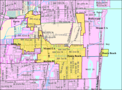 City boundaries prior to 2001 annexation