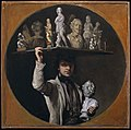 Daniels, William — Self-Portrait, As Pedlar of Statues.jpg