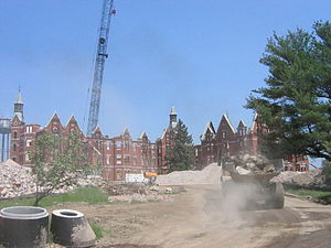 Kirkbride Plan - Demolition of the Danvers State Hospital in Danvers, Massachusetts, 2007