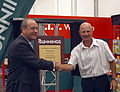 Daryl Maguire and Peter Sterling officially open Bunnings Warehouse Wagga Wagga.jpg