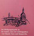 Das Mörike-Kabinett im Deutschordensmuseum. Wolfgangskapelle, Zeichnung aus dem Haushaltsbuch.jpg