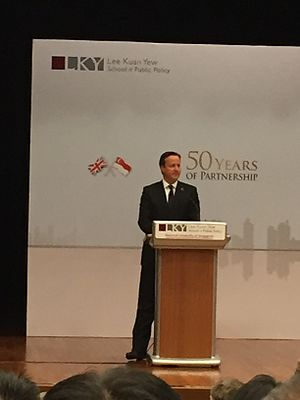Lee Kuan Yew School of Public Policy - David Cameron, the Prime Minister of the United Kingdom, speaking at the School in July 2015