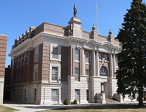 National Register of Historic Places listings in Dawson County, Nebraska - Image: Dawson County, Nebraska courthouse from NW 1