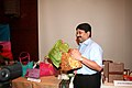 Dayanidhi Maran visiting the exhibition of Jute products during an interactive session 'The Indian Jute Industry-Present and Future' with Jute Sector Representatives (Large & Medium), in Kolkata on October 07, 2009.jpg