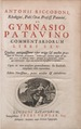 De gymnasio patavino commentariorum libri sex 977877 00005.tif