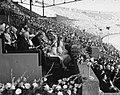 De koninklijke familie op de ere-tribune in het Olympisch Stadion in Amsterdam, , Bestanddeelnr 900-0043.jpg